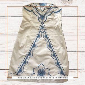 Lilly Pulitzer Bowen Dress White/Blue Size 12